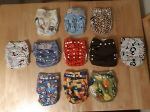 Reusable Cloth Nappies With Inserts Bundle Assorted Brands