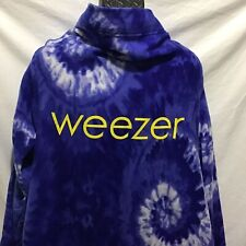 Weezer Snuggie Blue Tie Dye with Yellow Logo Spellout Real Snuggie Nwot