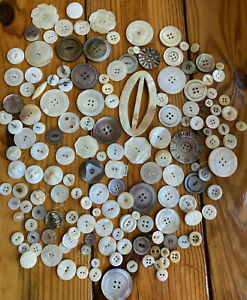 Antique & Vintage Buttons ~ Great Variety of Pearl / Shell plus Early Buttons