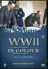 WWII IN COLOUR HITLER STRIKES EAST NARRATED BY ROBERT POWELL DVD