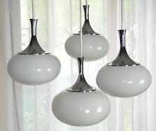 """Sölken Lampe 60er 70"""" pleureurs Lampe cascade en Opal Verre Tulip CHROME HOMOLOGUE Lamp"""