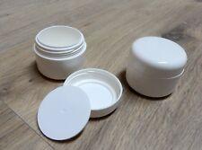 2 Tiegel Leer Döschen Cremedosen Kosmetikdose Doppelwandig Weiß 50 ml