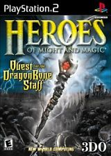 Heroes of Might And Magic Quest For The DragonBone Staff PS2 NEW And Sealed