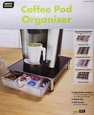Smart Design empilable Café Pod & capsule Tiroir/organisateur avec plateau en verre-Neuf