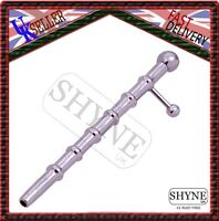 PRINCE ALBERT WAND WITH RIBS 100MM HOLLOW END AND SIDE BALL URETHRAL BAR