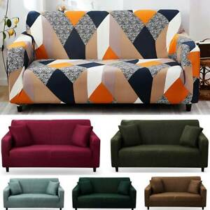 1-4 Seater Stretch Slipcovers Sofa Cover Stretch Elastic Couch Loveseat Cover