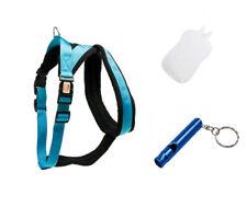 1x Karlie Cross Hundegeschirr,25mmX74-100cm,blau,L/XL +Hundepfeife... -Top-!!!