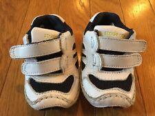 Stride Rite Tennis Walking Shoes Blue & White Infant Toddler Size 1 Play Zone