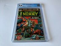 SUPERNATURAL THRILLERS 8 CGC 9.4 WHITE PAGES LIVING MUMMY MARVEL COMICS 1974