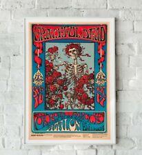 More details for grateful dead poster, grateful dead print, rock band poster, concert poster