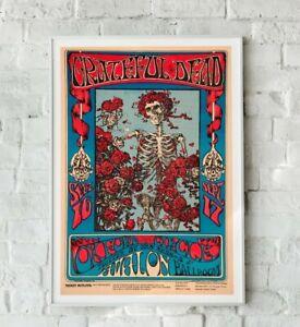 Grateful Dead Poster, Grateful Dead Print, Rock Band Poster, Concert Poster
