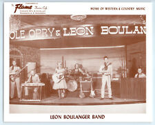 1950's LEON BOULANGER BAND Vintage FLAME THEATRE Publicity Photo COUNTRY MUSIC