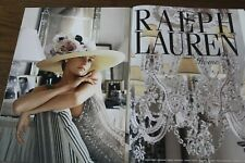 Ralph Lauren Magazine Print Ad 4 page Original Vintage