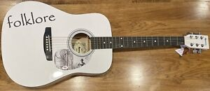 PSA/DNA Folklore TAYLOR SWIFT Autographed Limited Edition White Guitar RARE