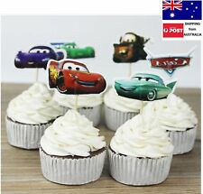 24pc DISNEY CARS CUPCAKE TOPPER PICKS LIGHTNING MCQUEEN CARS CAKE TOPPERS