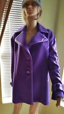 Gianni Versace women wool jacket size14,new,lilac color,lining.
