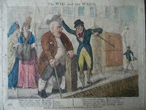 Isaac Cruikshank The Wig and the Wags, Georgian Satirical Caricature 1801