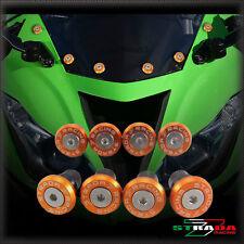 Strada 7 Pare-Brise Vis Carénage Kit 8pc Kawasaki ZX1400 ZX14R ZZR1400 Orange