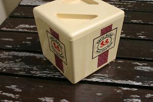 Vintage Whyte & Mackay Supadry Ice Bucket NOS, and 3 Teachers Bar towels