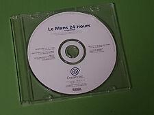 Le Mans 24 h Sega Dreamcast White Label pré Productions échantillon disque
