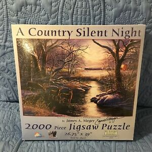 A Country Silent Night SunsOut 2000 piece puzzle  26.75 x 39 in NEW AND SEALED