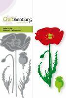 Poppy Flower Shaped Metal Stencil Cutting Die - NEW