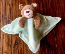 Little Miracles Bear Aqua Green Yellow Stars Costco Lovey/Security Blanket