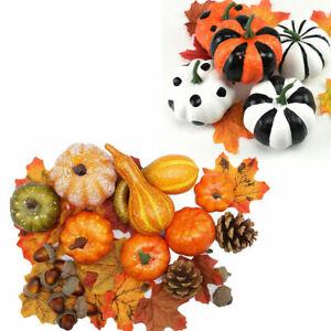 Artificial Pumpkin Harvest Autumn Fall Thanksgiving Wreath Banquet Party Decor