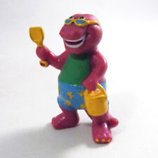 Beach BARNEY Cake Topper Party Favor PVC Figure 1993 Purple Dinosaur T-Rex VTG