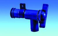 FRESH WATER OUTLET DRAIN TAP / VALVE 28mm MOTORHOME CARAVAN RV CAMPER SELFBUILD