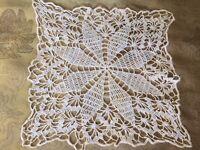 Vintage Square Doily Insert Piece Applique Embellishment Cotton Sewing A51