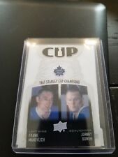 Frank Mahovlich, Johnny Bower 2018-2019 Upper Deck Series 1 Cup Components 1967