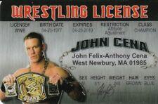 John Cena novelty collectors card Drivers License wwf wwe wcw
