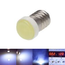 1X E10 1447 LED Lamps Screw Socket WHITE 6000K 12V 12 Volt COB Indicator Light