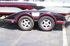 RANGER - BLK:Boat trailer fender/tire storage covers exact fit tandem fiberglass