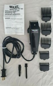 Wahl Pet Animal Hair Clipper Dog Grooming Kit PCMC w/ brushes guards & manual.