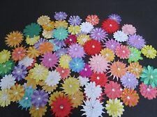DIE CUT FLOWERS  27  various colours with pearls or gems
