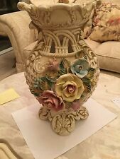 Capodimonte Antique Porcelain Flower Vase Made in Italy