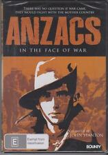 ANZACS IN THE FACE OF WAR - DOCUMENTARY - NARRATED BY JOHN STANTON - DVD - NEW