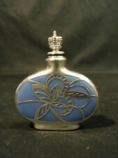 U.S. ZONE GERMANY PORCELAIN GLASS SCENT BOTTLE with STERLING SILVER OVERLAY