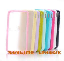 Bumper,coque,housse,étui,contour silicone arrière transparent iPhone 4/4S