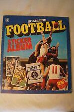 AFL-VFL  - Vintage -1983 -Scanlens #1 - Sticker Album with Complete Set mounted.