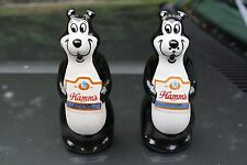 Vintage Original 1970's Ceramarte Hamm's Beer Bear Salt Pepper Shakers