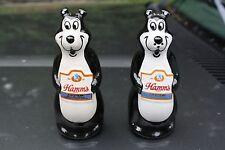 Vintage Original 1970's Ceramarte Hamm's Beer Bear Salt Pepper Shakers