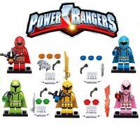 5pcs CUSTOM-MADE Power Ranger Megazord Ninjago Figure Minifigure for LEGO