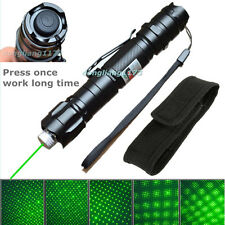 10 Miles Powerful 5mw Green Laser Pointer Pen Light 532nm Visible Beam + Holster