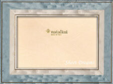 Natalini Hand Made Italian Marquetry Blue White Gold 4x6 Picture Photo Frame New