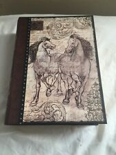 "Punch Studio Book Box 8.5"" x 11 Horses Wild Horses Keepsake"
