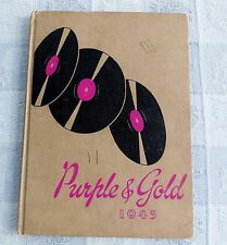1945 SOUTH HAVEN HIGH SCHOOL YEAR BOOK SOUTH HAVEN, MICHIGAN   PURPLE AND GOLD