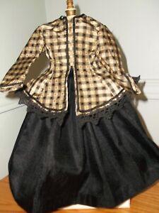 "14.5 -15"" Huret/ French Fashion doll silk skirt and silk taffeta jacket. ."